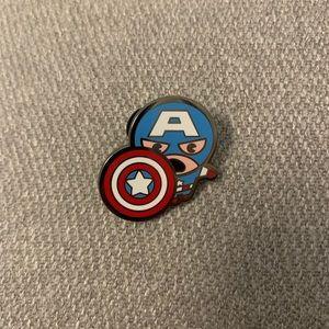 Disney Marvel Kawaii Mystery Pin Set Capt America